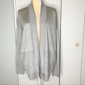 Forever 21 Gray Cardigan Sweater Open Front M